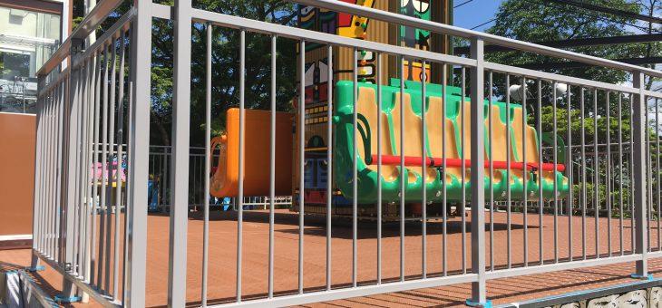 別府市*遊園地遊具 防滑塗装工事
